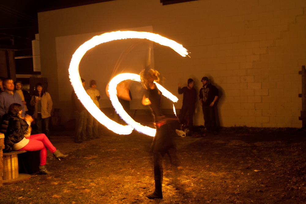 Fire Dancing at Mid West Music Fest 2013