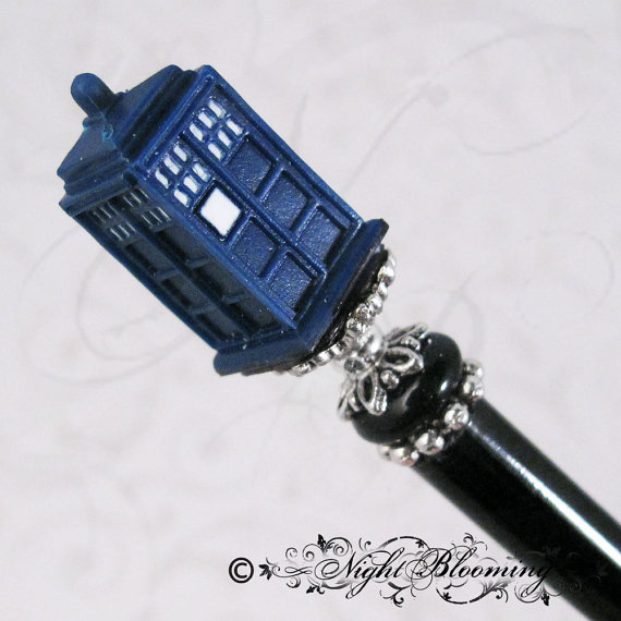 Dr. Who Tardis Hair Stick by NightBlooming.